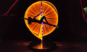 Orange Light Painting